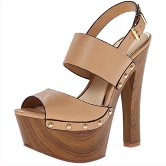 Wooden Chunky Heels